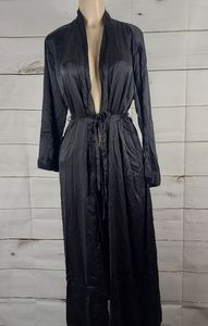 Victoria's Secret Black Silk Long Robe